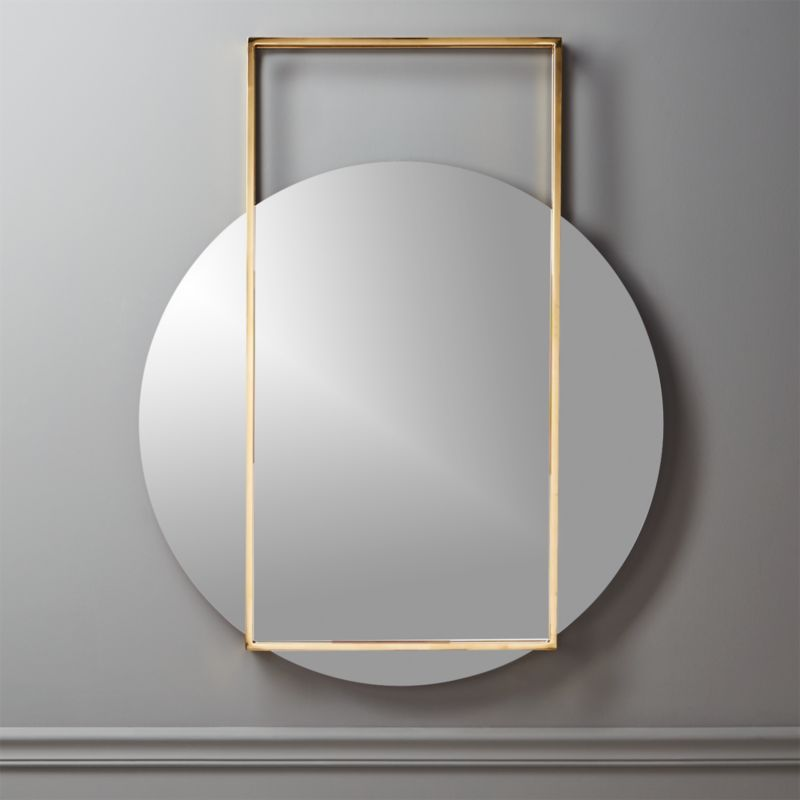 Modern Wall Mirrors modern mirrors: round, square and standing | cb2