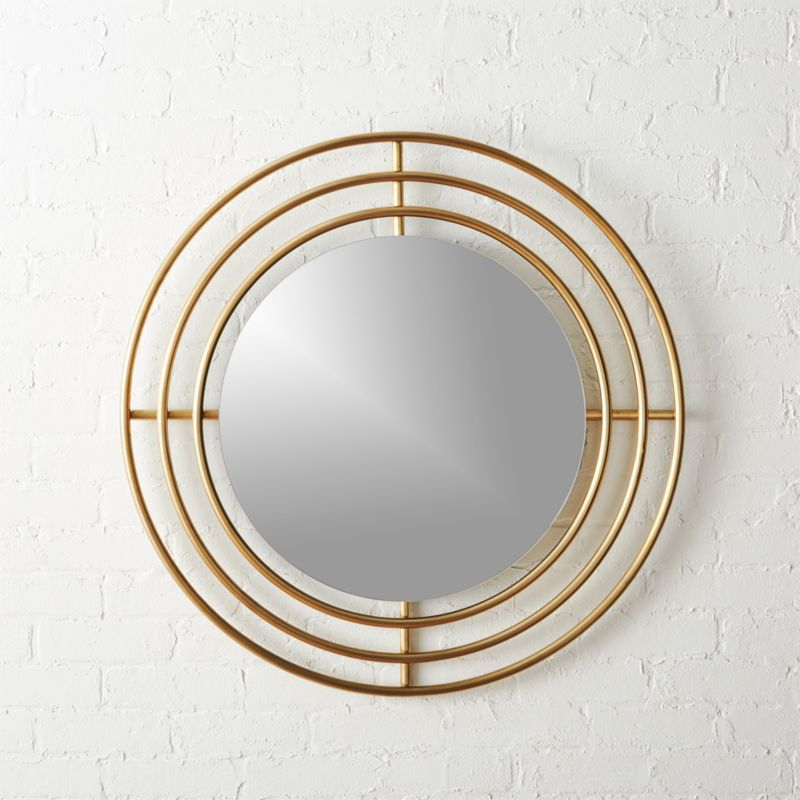 Orbit Small Round Wall Mirror 32 5 Cb2