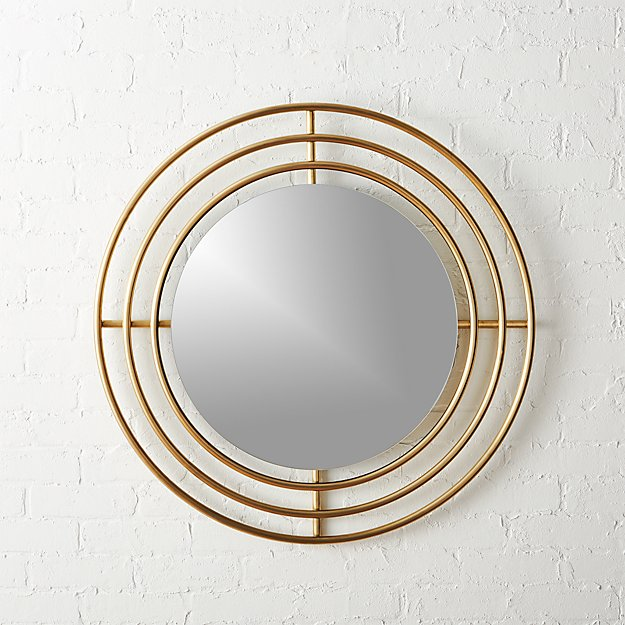 Round Wall Mirrors orbit small round wall mirror 32.5"