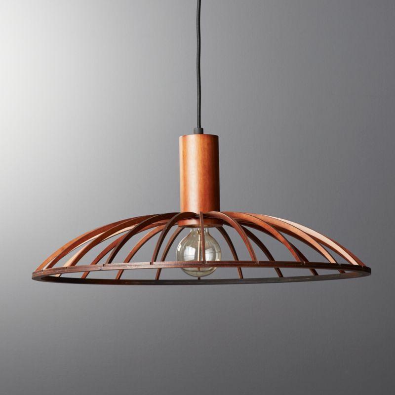Mermelada Large Wood Cage Pendant Light In Pendant Lights