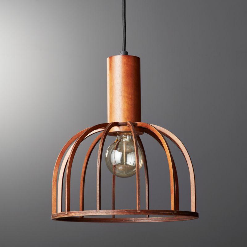 Mermelada small wood cage pendant light