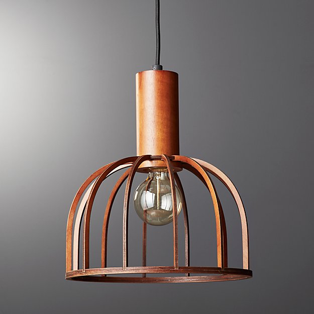 Mermelada Small Wood Cage Pendant Light Cb2