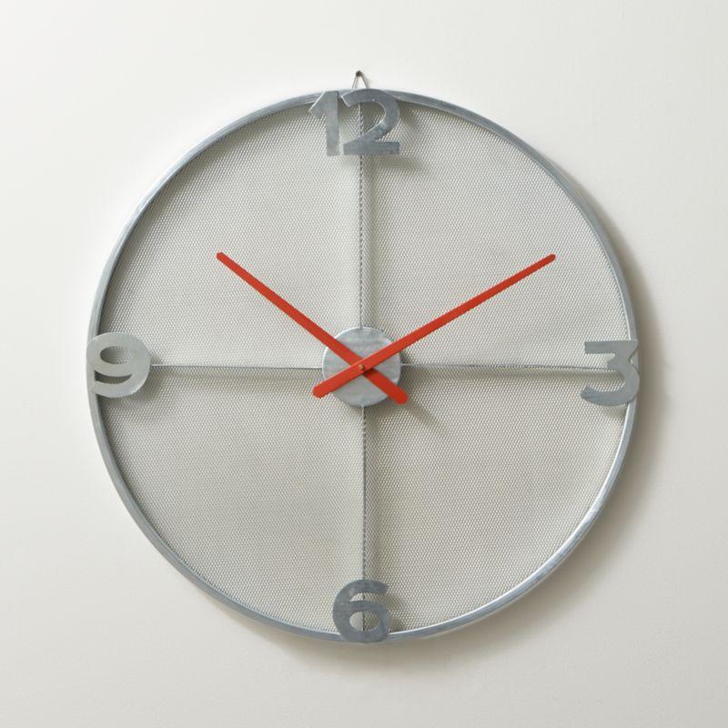 """mesh 30"""" wall clock"""
