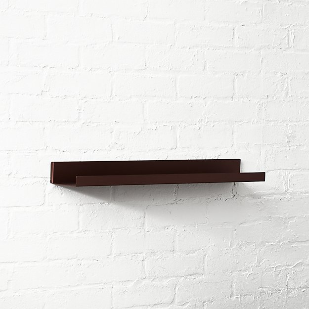 "Metal Bronze Wall Shelf 24"""