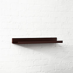 Metal Bronze Wall Shelf 24""