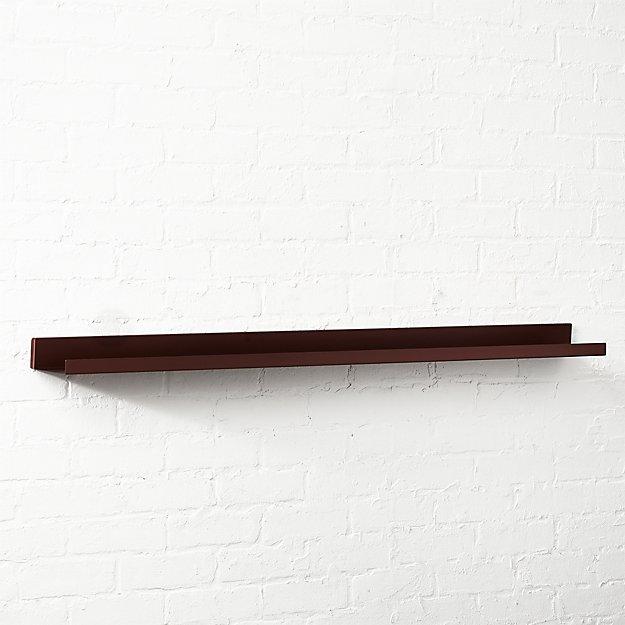 "Metal Bronze Wall Shelf 48"""