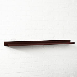 Metal Bronze Wall Shelf 48""