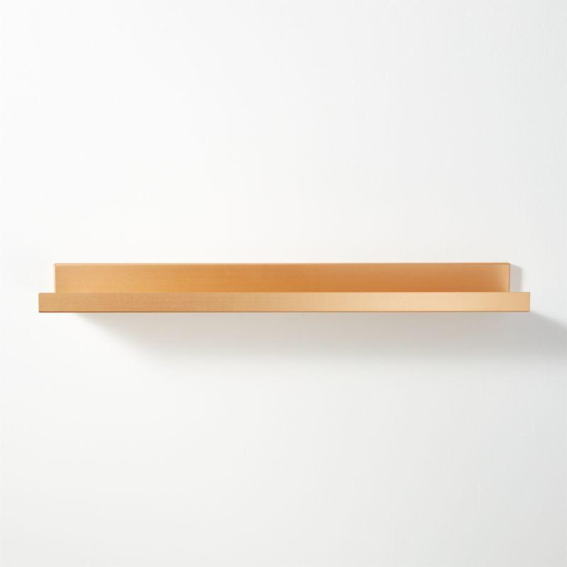 Metal Gold Wall Shelf 24 CB2