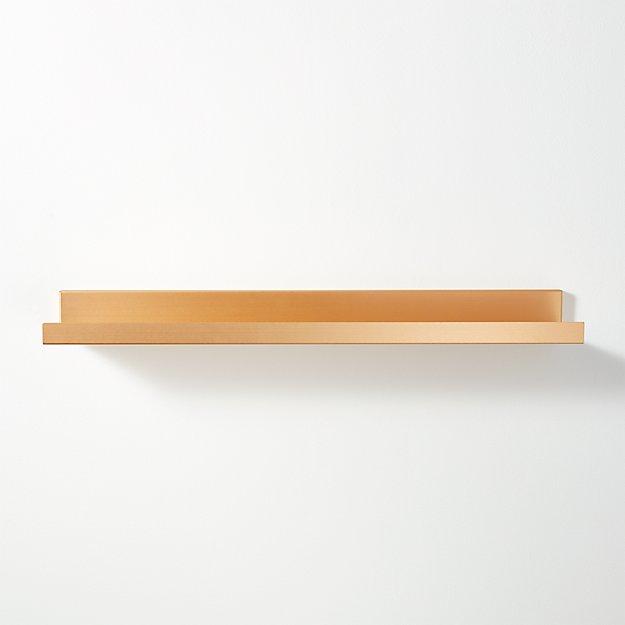 """Metal Gold Wall Shelf 24"""""""