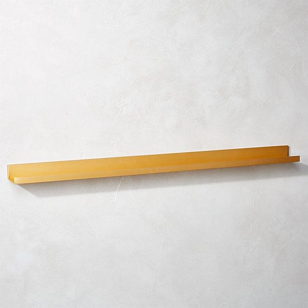 """Metal Gold Wall Shelf 48"""""""
