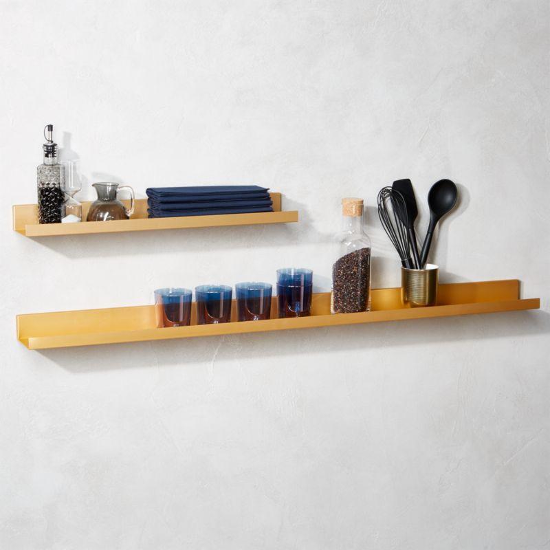 Modern Wall Shelf modern shelving and wall mounted storage | cb2