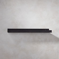 metal gunmetal wall shelf 24""