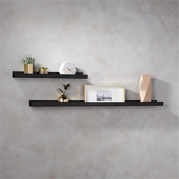Gunmetal metal wall ledge cb2 - Wall metal shelf ...