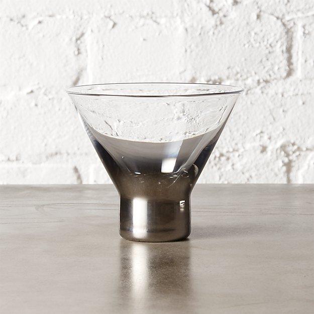 metallic martini glass