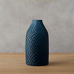 mia navy vase