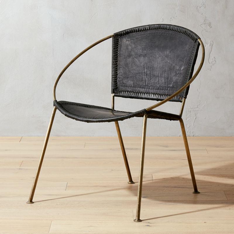 Micaela Black Leather Chair
