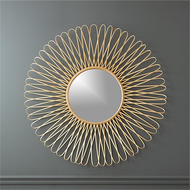 "mick natural 40"" wall mirror"