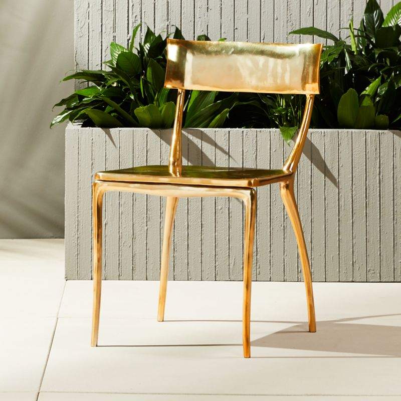Exceptional Midas Gold Dining Chair