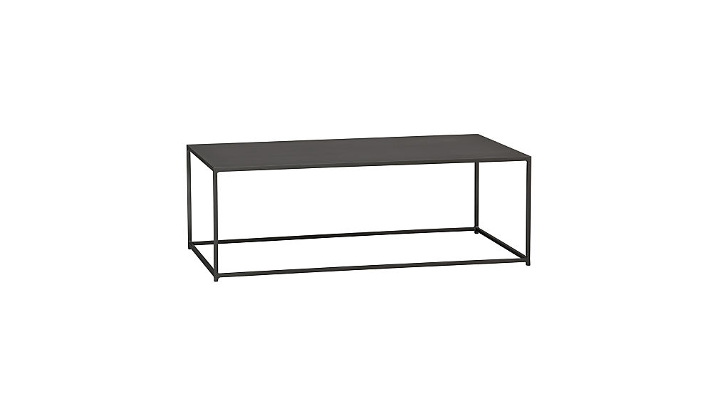 mill iron coffee table CB2