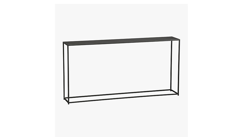 Narrow White Console Table mill narrow console table | cb2