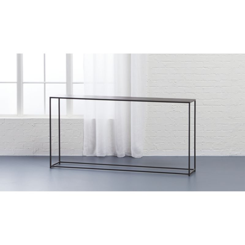 mill narrow console table CB2