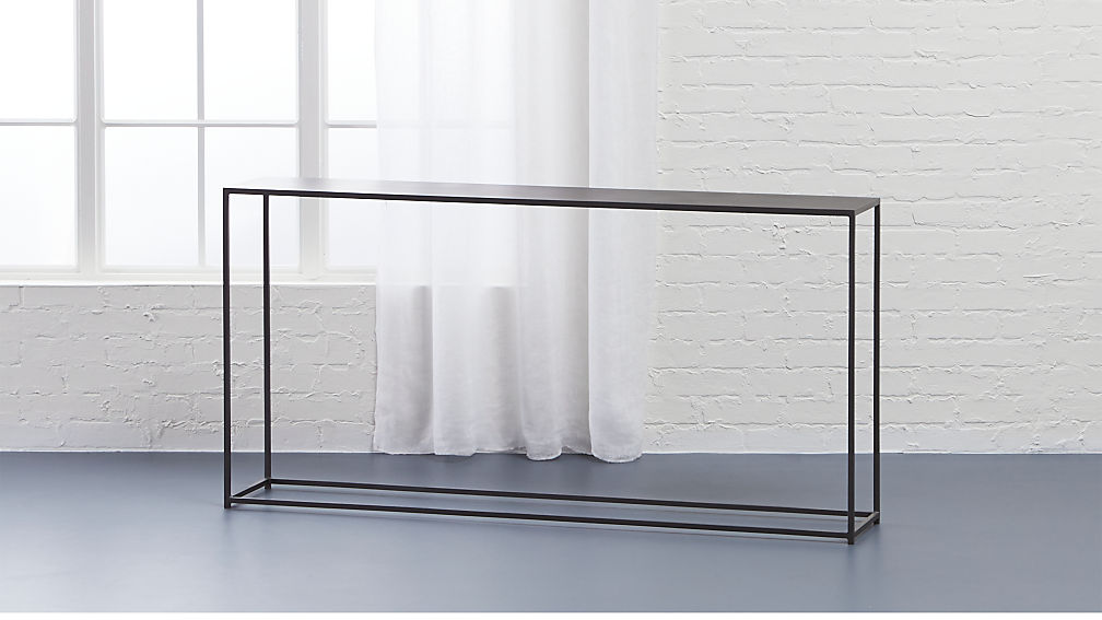 mill narrow console table + reviews | cb2