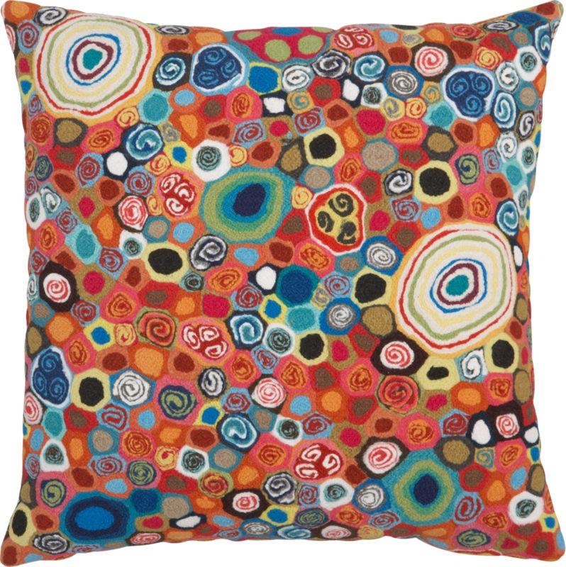 "millefiora murano 20"" outdoor pillow"