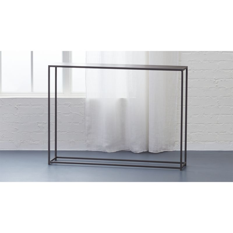 mill mini console table Reviews CB2
