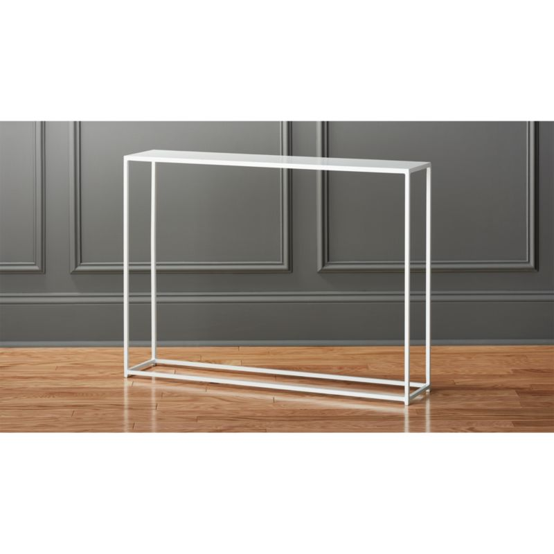mill mini white console table Reviews CB2