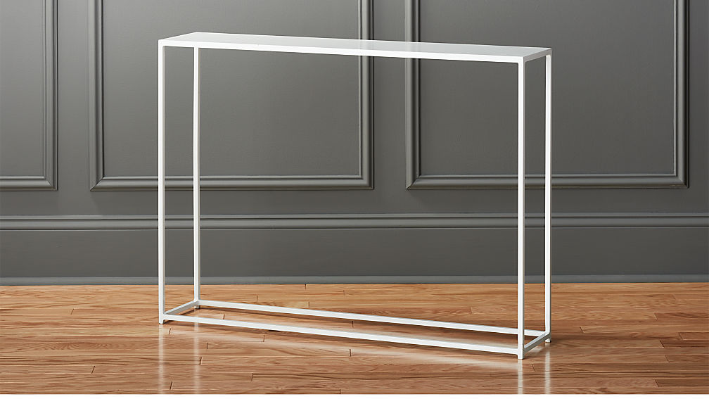 Mill Mini White Console Table + Reviews