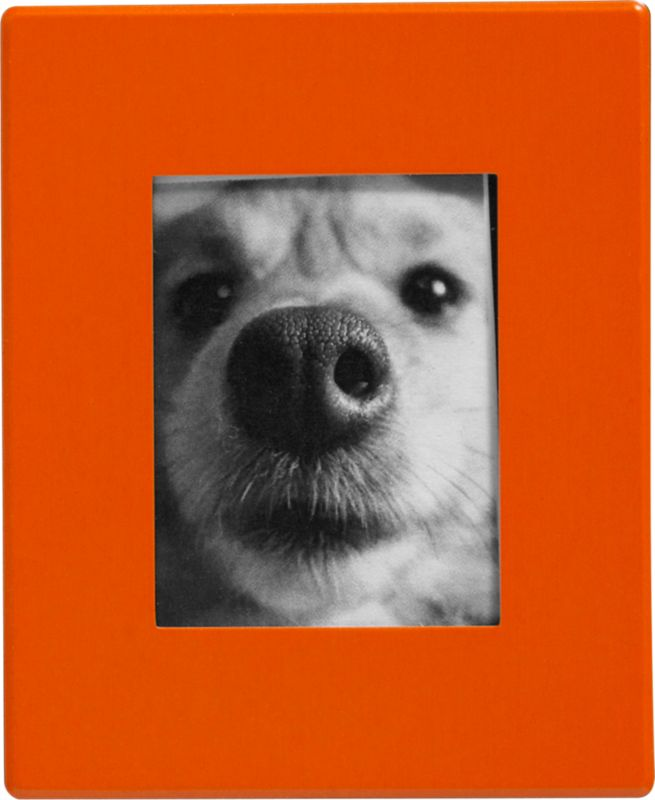 mini orange magnetic 1.5x2 picture frame