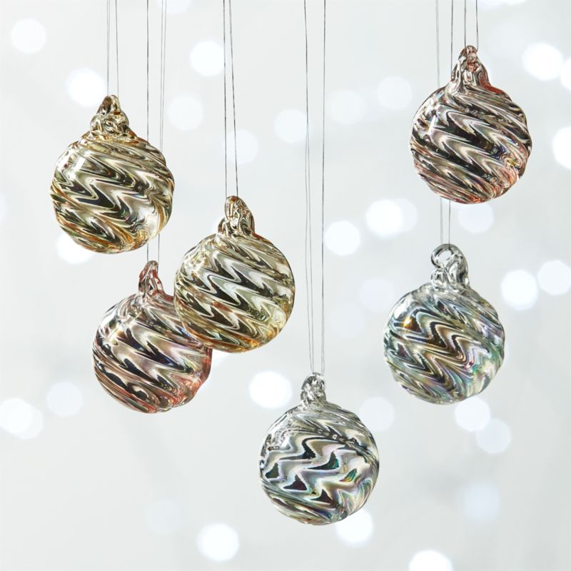 Mini Pearl Ball Ornaments Set of 6