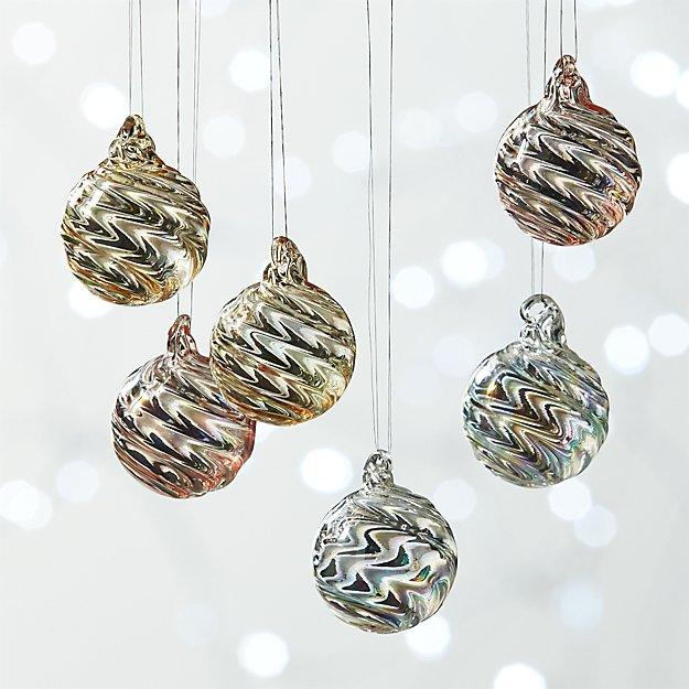 Mini Pearl Ball Ornaments Set of 6