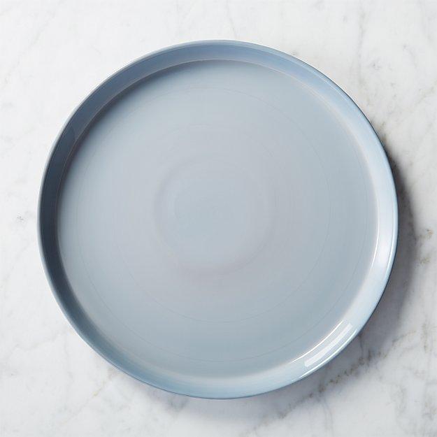 mist glass dinner plate