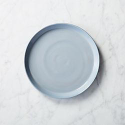 mist glass salad plate