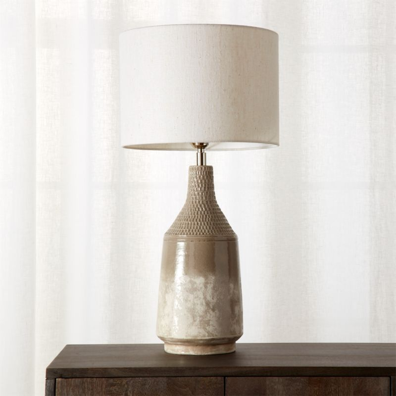 Shop Modern Table Lamps in Marble Wood Gold CB2