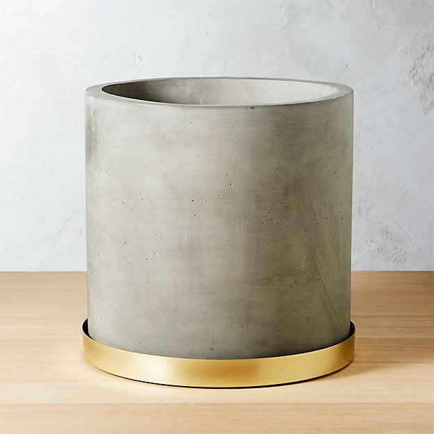 Moda Large Cement Planter