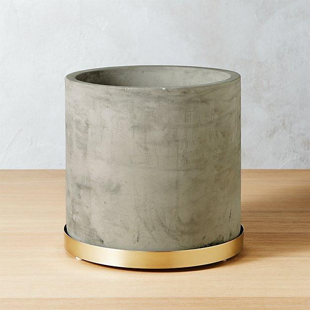 Moda Small Cement Planter