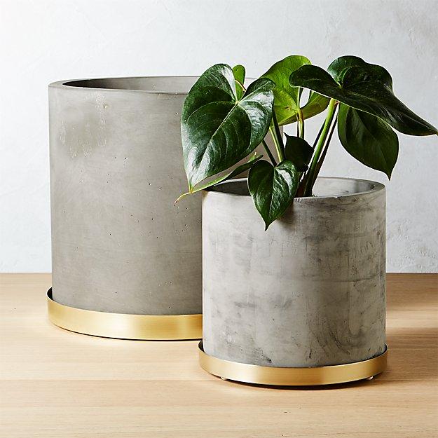 Moda Cement Planters Cb2