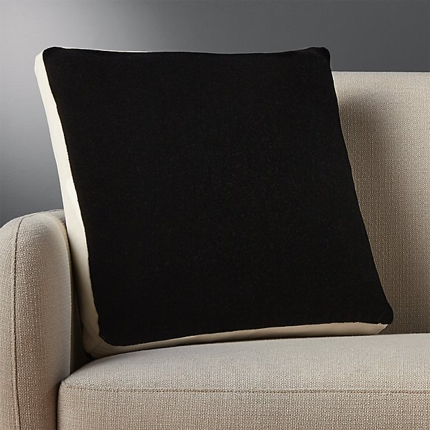 "18"" mohair black pillow"