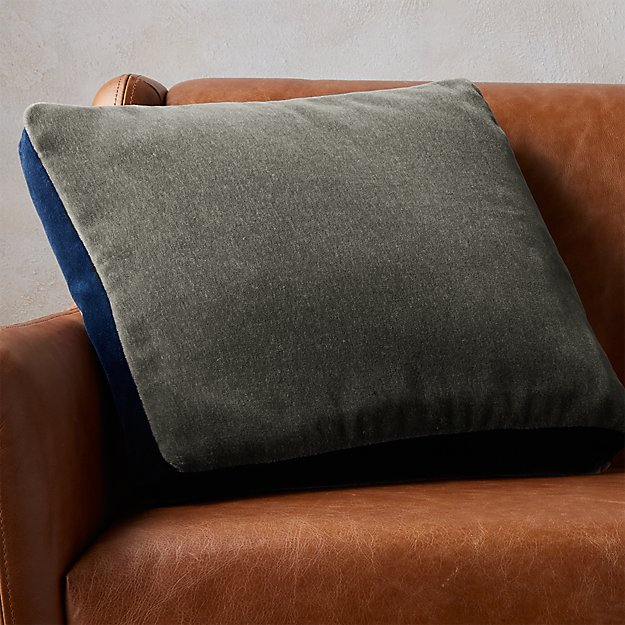 "18"" mohair grey pillow"