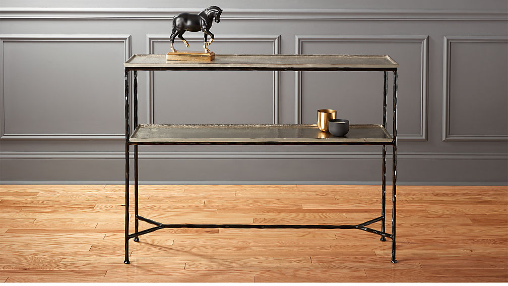 Molten metal console table cb2 Metal console table