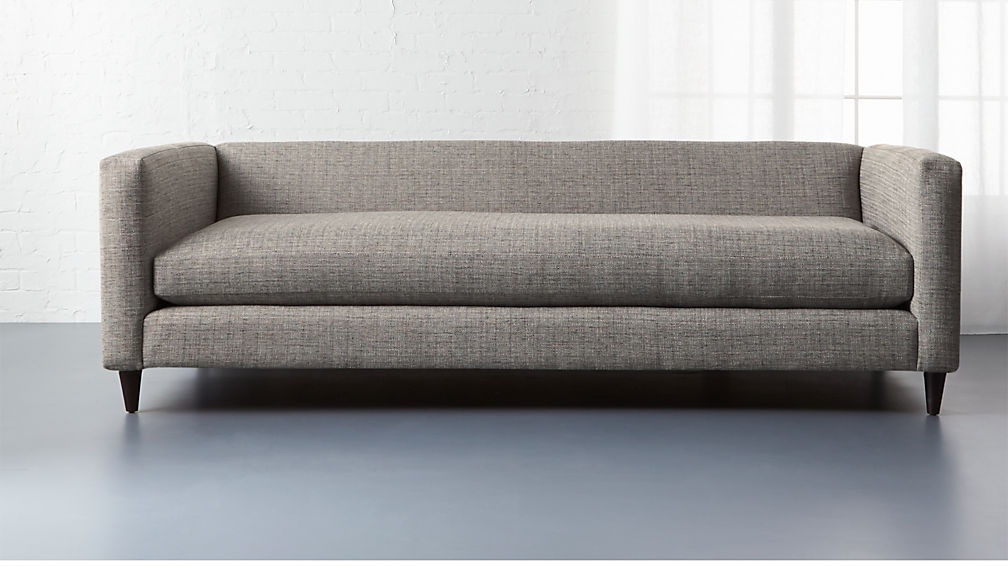 Movie Salt And Pepper Grey Deep Sofa Cb2