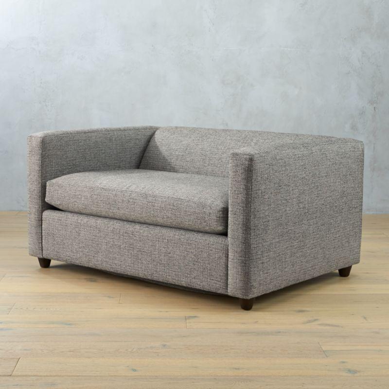 movie twin sleeper sofa lexi salt and pepper cb2. Black Bedroom Furniture Sets. Home Design Ideas