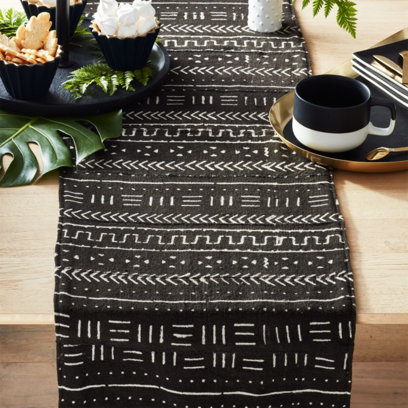 Oval Coffee Table Runner: Mudcloth Table Runner + Reviews