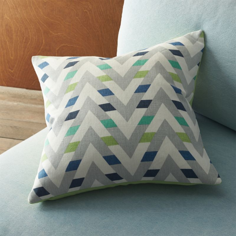 """muku cool 16"""" pillow with feather insert"""
