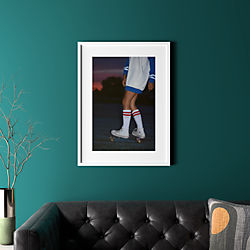 "skate with white frame 23.5""x31.5"""
