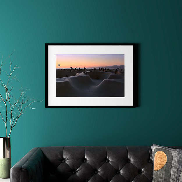 """sunset with black frame 31.5""""x22.5"""""""