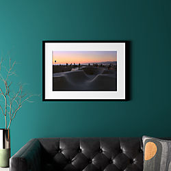 "sunset with black frame 31.5""x22.5"""