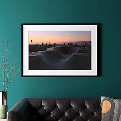 "sunset with black frame 40.5""x28"""